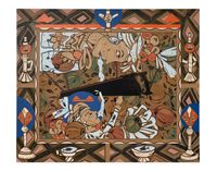 Found Buried #8 by Lari Pittman contemporary artwork painting