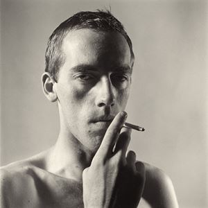 David Wojnarowicz Smoking by Peter Hujar contemporary artwork