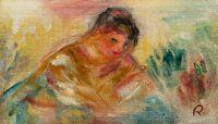 Buste de femme - fragment by Pierre-Auguste Renoir contemporary artwork painting, works on paper