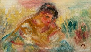 Buste de femme - fragment by Pierre-Auguste Renoir contemporary artwork