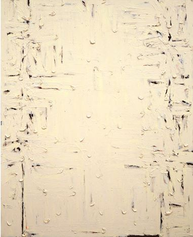 Kim Tae-Ho, Form 90-1106 (1990). Mixed media on canvas, 162 x 130 cm. Courtesy Pearl Lam Galleries.
