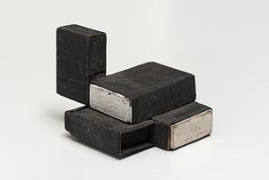 Estruturas de caixas de fósforos preto/branco by Lygia Clark contemporary artwork