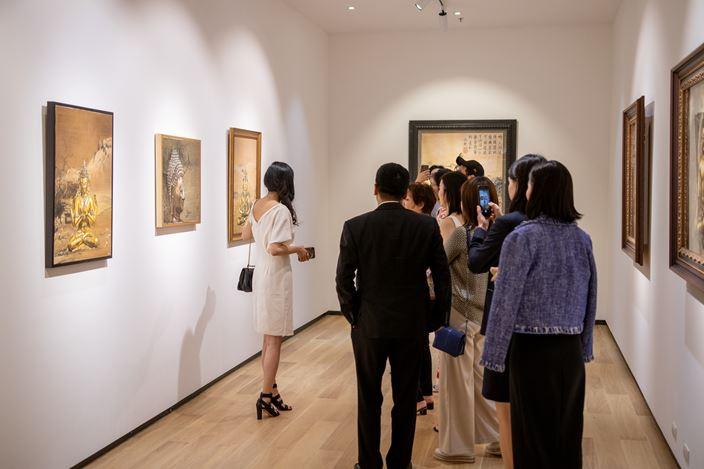 Exhibition view: Mi Qiaoming,   Layers Of Tranquility,Tang Contemporary Art, Bangkok (14 November–14 December 2019).Courtesy Tang Contemporary Art.