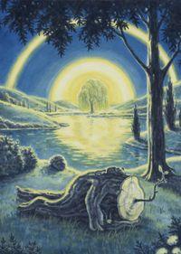 Moon Light Moisturizing by Jang Jongwan contemporary artwork painting, works on paper