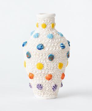 Plague pot with shells by Glenn Barkley contemporary artwork