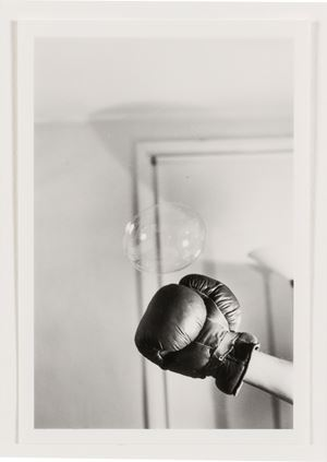 Untitled: Boxing Glove and Bubble Series by Rose Finn-Kelcey contemporary artwork