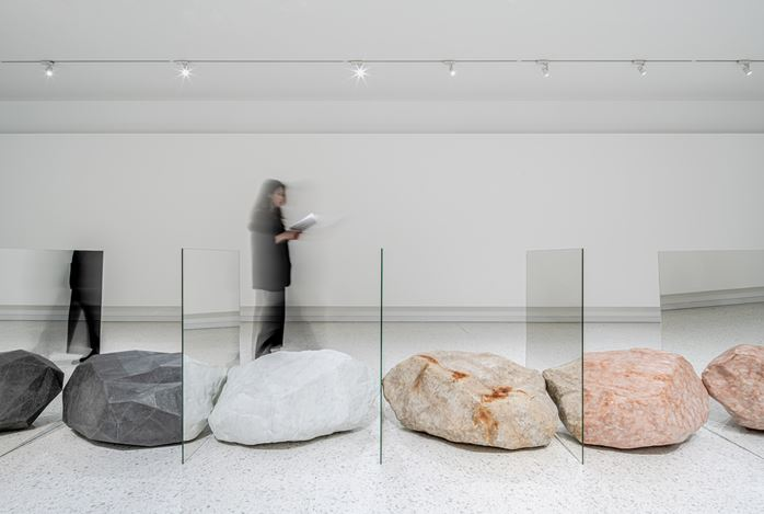 Exhibition view:Alicja Kwade,Hypothetical Reality, Winsing Art Place, Taipei (29 April–19 July 2020). Courtesy Winsing Art Place.