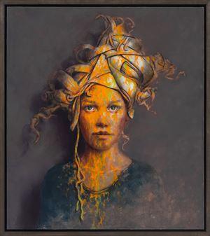 Sie fing by Jonas Burgert contemporary artwork