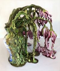 Weeping Tulips (Semper Augustus) (The Covid Diaries Series) by Valerie Hegarty contemporary artwork sculpture