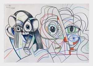 Parallel Lives by George Condo contemporary artwork