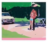Claire and Her Boyfriend by Guy Yanai contemporary artwork painting, works on paper