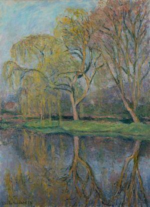 Le Printemps, Le bassin aux nymphéas à Giverny by Blanche Hoschede-Monet contemporary artwork