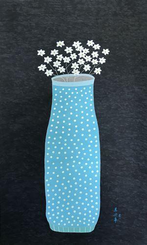 The Elegant Blue 《藍的秀麗》 by Chu Hing-Wah contemporary artwork