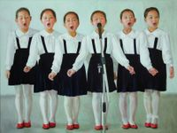Childhood in Northern Korea No.3 by Chen Liangjie contemporary artwork painting