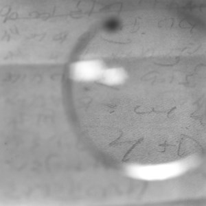Gandhi's Glasses—Viewing a note on his 'day of silence' shortly before his death by Tomoko Yoneda contemporary artwork