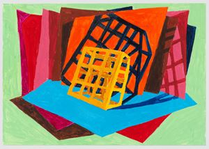 untitled: sodiumlit street object; 2020, 8 by Phyllida Barlow contemporary artwork