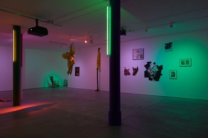 Exhibition view: Group Exhibition, My Head is a Haunted House, Sadie Coles HQ, Kingly Street, London (5 June–10 August 2019). Courtesy Sadie Coles HQ.