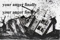 Your Anger (Crystal Beach) by Monica Bonvicini contemporary artwork painting, works on paper