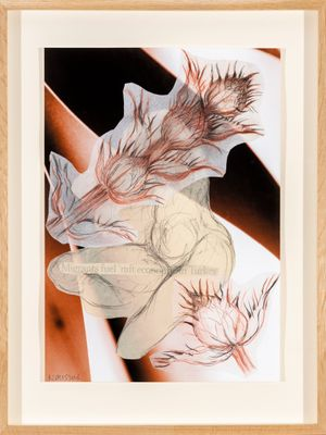 Collage drawings 6 by Kalliopi Lemos contemporary artwork painting, mixed media
