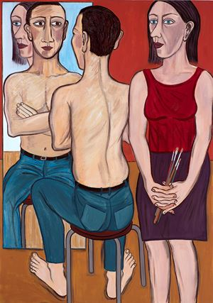 Every Mother's Son by Eileen Cooper contemporary artwork