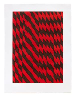 Blackfriars Red by Richard Deacon contemporary artwork print