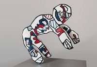 Le Facetieux (after maquette dated 20 May-December 1973) by Jean Dubuffet contemporary artwork sculpture