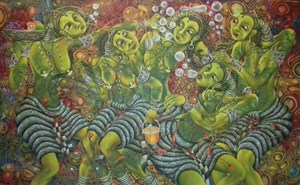 Emotion Bubbles by Andie Aradhea contemporary artwork