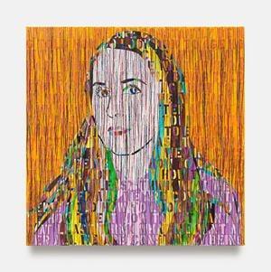 Portrait of Ellen by Ghada Amer contemporary artwork