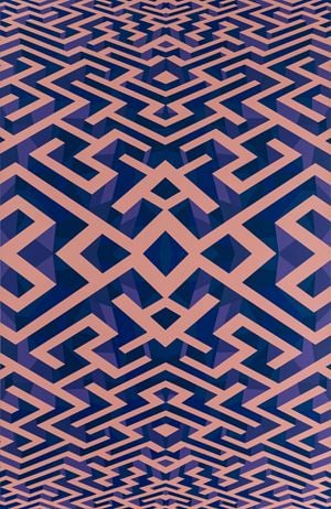 Maze Pink Purple by Xu Qu contemporary artwork