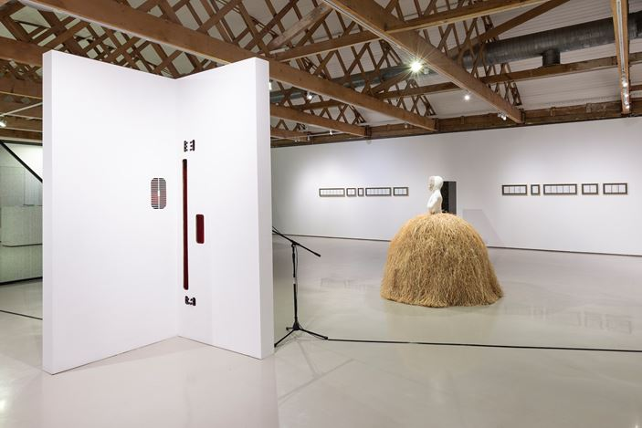 Exhibition view: Group Exhibition, Soft Architectures, Goodman Gallery, Cape Town (28 November 2019–16 January 2020). Courtesy Goodman Gallery.