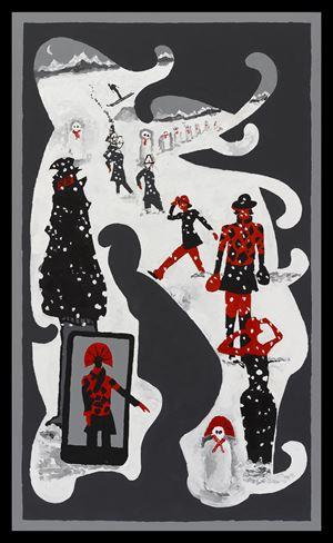 Snow (Dedicated Followers of Fashion) by Derek Boshier contemporary artwork