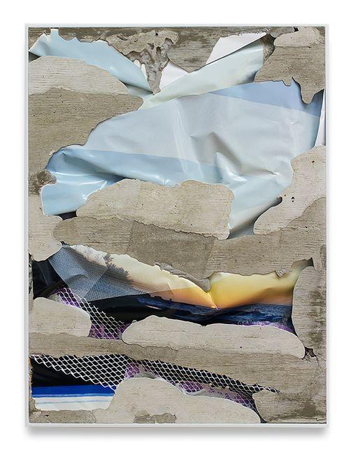Kauai Sunset Layered Concrete (Photogram) by Letha Wilson contemporary artwork