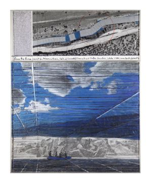 Over the River, Project for the Arkansas River, State of Colorado by Christo & Jeanne-Claude contemporary artwork