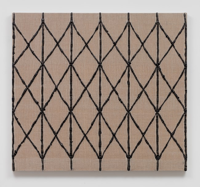 Woven Collapsible Gate, Expanded (Black) by Analia Saban contemporary artwork