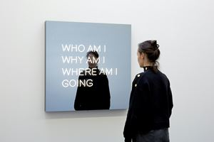 WHO AM I WHY AM I WHERE AM I GOING by Jeppe Hein contemporary artwork