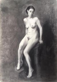 Nude II [Study] by Isabella Watling contemporary artwork works on paper, drawing