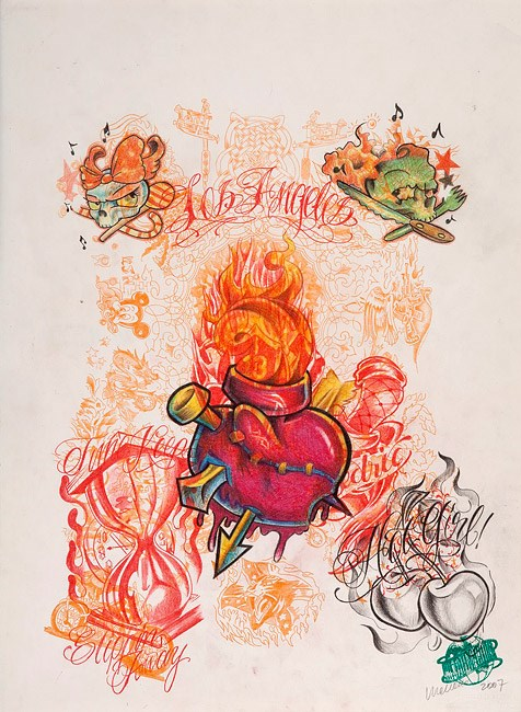 Untitled (Tattoo drawing #1) by Wim Delvoye contemporary artwork