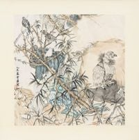 On the lookout by Yun-Fei Ji contemporary artwork painting, works on paper, sculpture, drawing