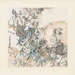 On the lookout by Yun-Fei Ji contemporary artwork