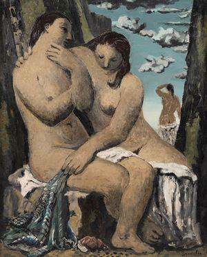 Les Baigneuses by Jean Souverbie contemporary artwork