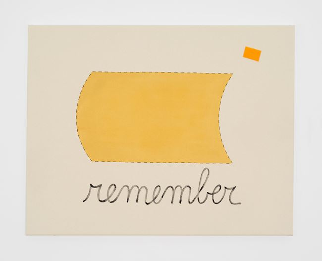 Untitled (remember) by Luca Frei contemporary artwork