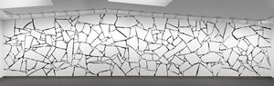 White styrofoam on black wall by Sol LeWitt contemporary artwork
