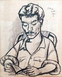 Shahnavas by Jyothi Basu contemporary artwork works on paper