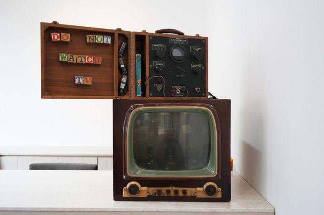 DO NOT WATCH TV by Nam June Paik contemporary artwork
