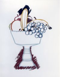 Compote with Fruit and Shadow by Tom Wesselmann contemporary artwork mixed media