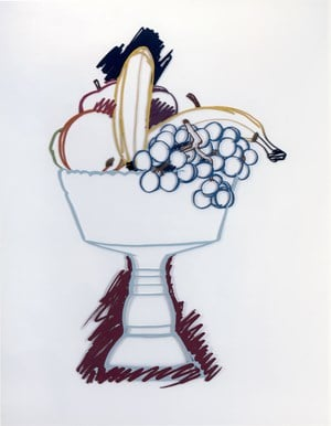 Compote with Fruit and Shadow by Tom Wesselmann contemporary artwork