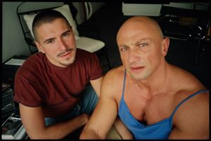 Gilles and Gotscho at home, Paris by Nan Goldin contemporary artwork