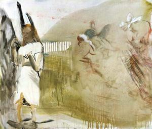 Heller Engel by Siegfried Anzinger contemporary artwork