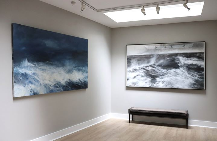 Exhibition view: Janette Kerr, States of the Sea, Cadogan Contemporary, London (13–30 October 2020). Courtesy Cadogan Contemporary, London.