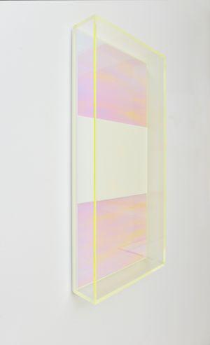 Colormirror rainbow triple yellow Milan by Regine Schumann contemporary artwork